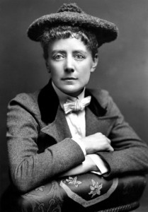 Dame Ethel Mary Smyth (1858 – 1944), the English composer and suffragette who composed the battle song of the women's social and political union and also wrote two autobiographical works.   (Photo by Hulton Archive/Getty Images)
