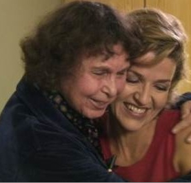 Gubaidulina and violinist Anne-Sophie Mutter, from the film Sophia: Biography of a Violin Concerto