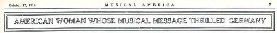 Amy Beach's European Successes Recalled by Musical America; article of 100 years ago reprinted
